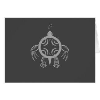 Cartão Bolhas da tartaruga de mar