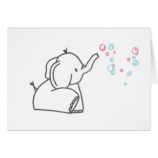 Cartão Bolhas do elefante