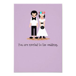 Cartão Boliche que Wedding noivos