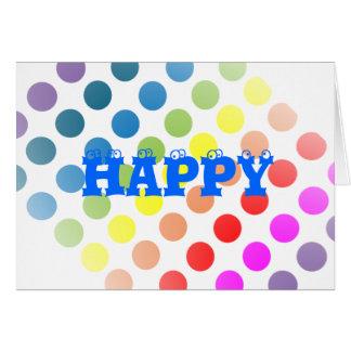 Cartão Bolinhas do feliz aniversario