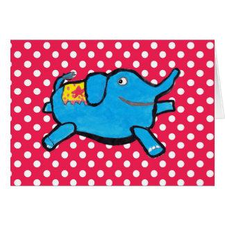 Cartão Bolinhas parvas do elefante