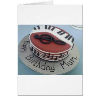 Cartão Bolo da mãe do feliz aniversario