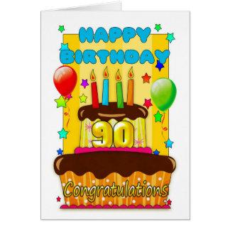 Cartão bolo de aniversário com velas - aniversário feliz