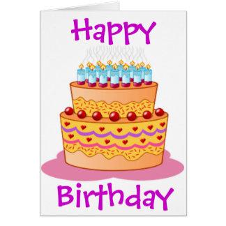 Cartão Bolo de aniversário grande
