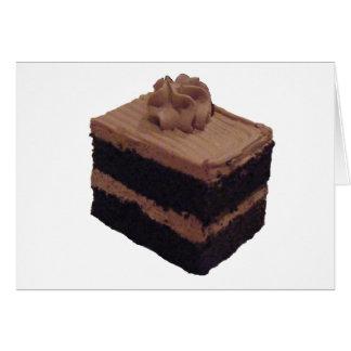 Cartão Bolo de chocolate