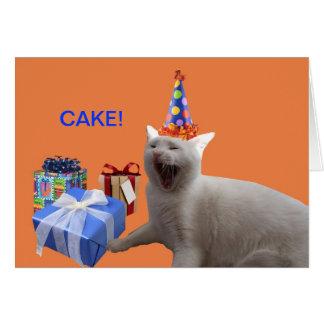 Cartão BOLO do feliz aniversario