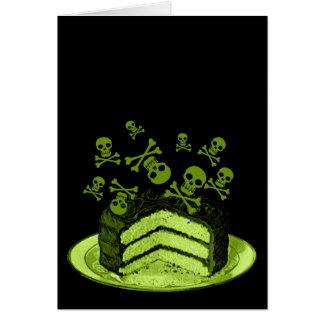 Cartão Bolo do veneno
