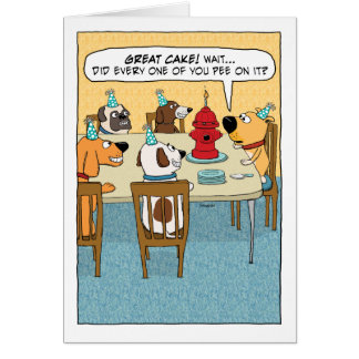 Cartão Bolo engraçado da boca de incêndio de fogo para o