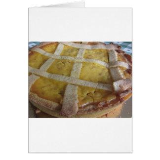 Cartão Bolo italiano tradicional Pastiera Napoletana