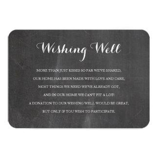 Cartão bom de desejo rústico da inserção do