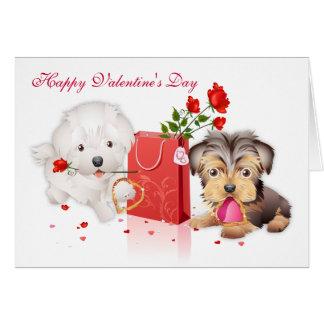 Cartão bom dia dos namorados Cão-ido