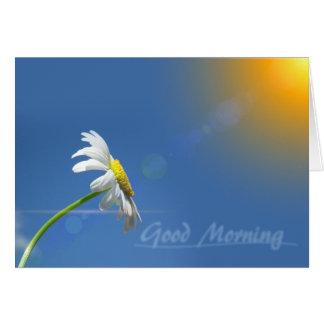 Cartão Bom dia, obrigados para trazer a luz do sol