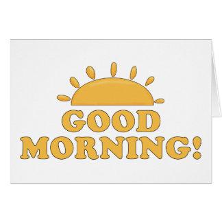 Cartão Bom dia Sun