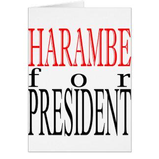 Cartão bom gori do guardião do voto do presidente da