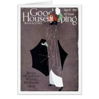 Cartão Bom tarefas domésticas cobrir de Coles Phillips do