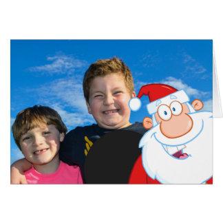 Cartão Bomba de foto de Papai Noel