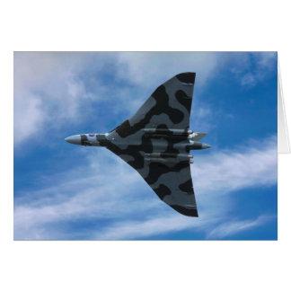 Cartão Bombardeiro de Vulcan em vôo
