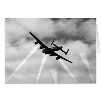 Cartão Bombardeiro de WW2 Avro Lancaster