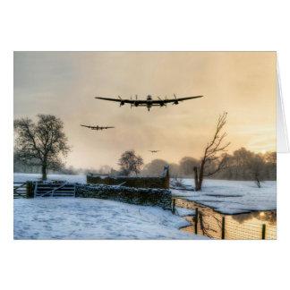 Cartão Bombardeiros do inverno