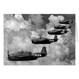 Cartão Bombardeiros do torpedo do vingador de TBF