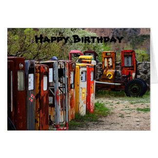 Cartão Bombas de gás do feliz aniversario, humor do carro