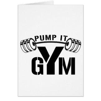 Cartão bombeie-o gym