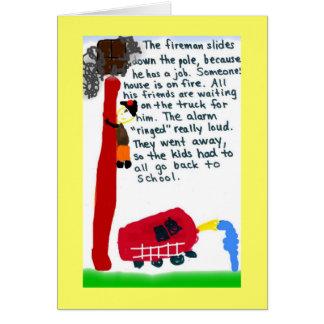 Cartão bombeiro