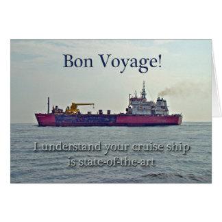 Cartão Bon voyage - cruzeiro