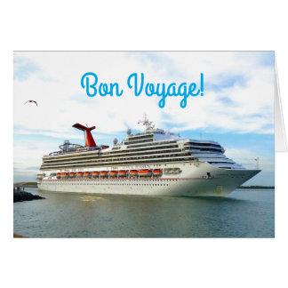 Cartão Bon voyage do costume da luz do sol do destino