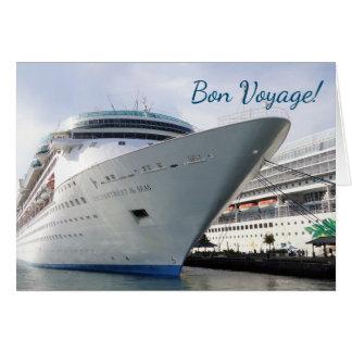 Cartão Bon voyage Enchanting do costume do arco