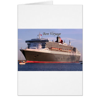 Cartão Bon voyage: navio de cruzeiros