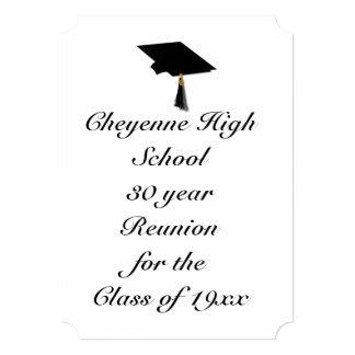 Cartão Boné do formando - reunião de turma da escola