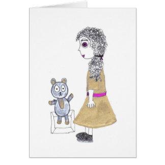 Cartão boneca assustador