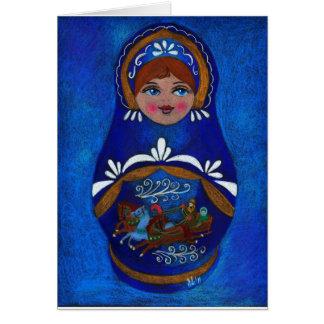 Cartão Boneca do russo