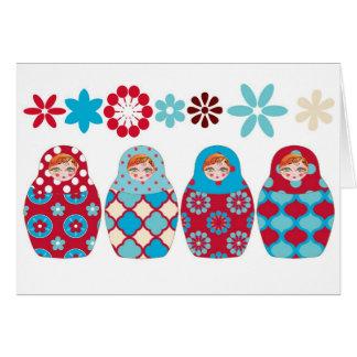 Cartão boneca russa multico