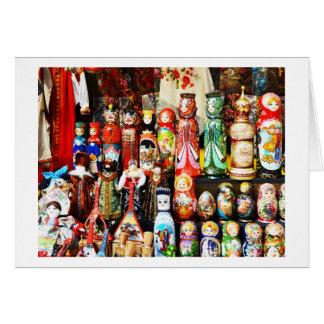 Cartão Bonecas do russo