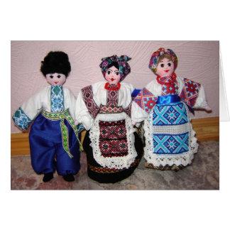 Cartão Bonecas ucranianas
