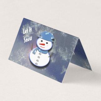 Cartão Boneco de neve branco puro