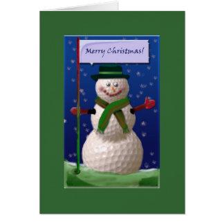 Cartão Boneco de neve da bola de golfe para a porca do