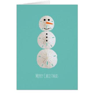 Cartão Boneco de neve do dólar de areia