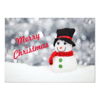 Cartão Boneco de neve do Feliz Natal
