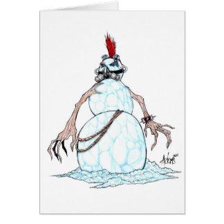 Cartão Boneco de neve do punk do gótico