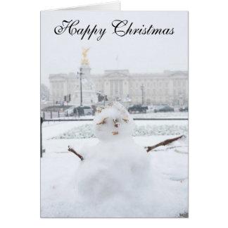 Cartão Boneco de neve Londres do Buckingham Palace