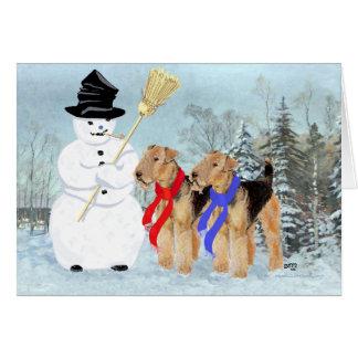 Cartão Boneco de neve mágico