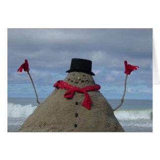 Cartão Boneco de neve tropical