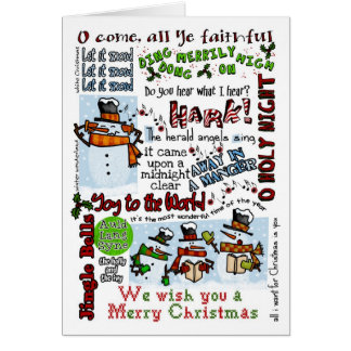 Cartão Bonecos de neve de Caroling