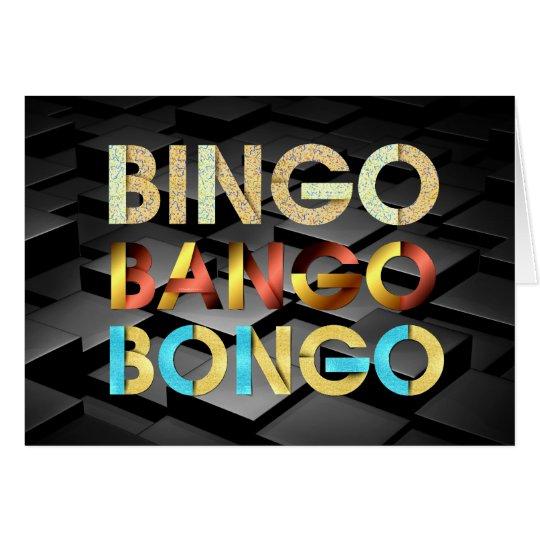 Cartão Bongos de Bango do Bingo do T