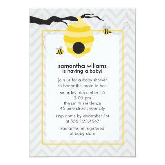 Cartão Bonito Bumble o chá de fraldas das abelhas