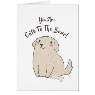 """Cartão """"Bonito cão de filhote de cachorro do animal de"""