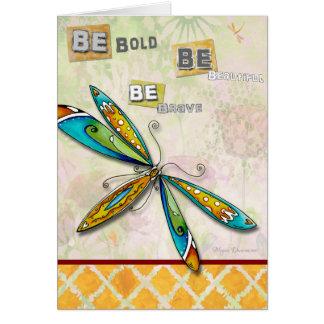 Cartão bonito corajoso bravo Uplifting inspirado